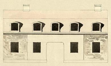 Del av ritning från 1759.