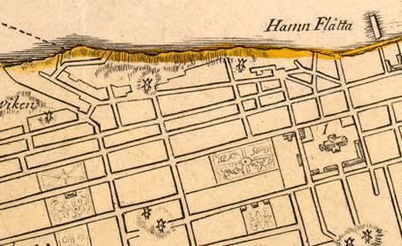 Del av Biurmans karta, 1751.