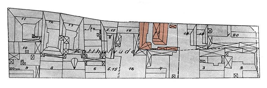 Del av karta från 1914 med förslag till ändring av stadsplanen för Södermalm.
